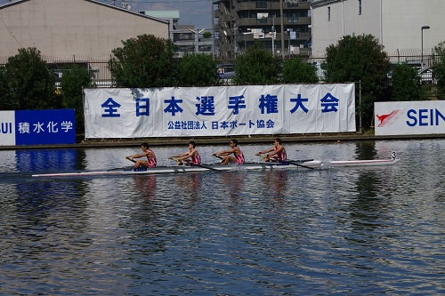 第92回全日本選手権大会男子 舵手なしフォア