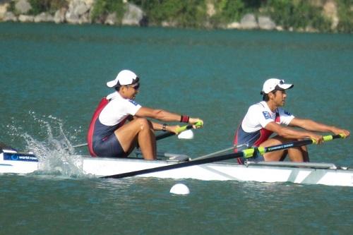 世界選手権成年男子 軽量級舵手なしペア