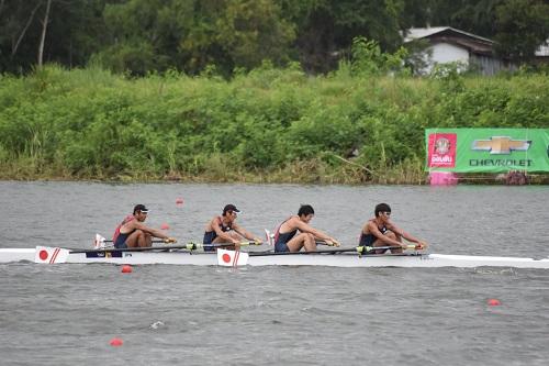 アジア選手権男子 舵手なしフォア
