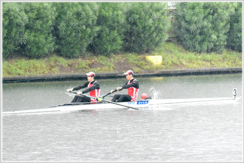 第95回全日本選手権男子舵手なしペア決勝