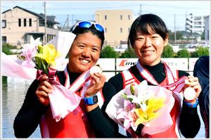 第96回全日本選手権女子舵手なしペア決勝表彰